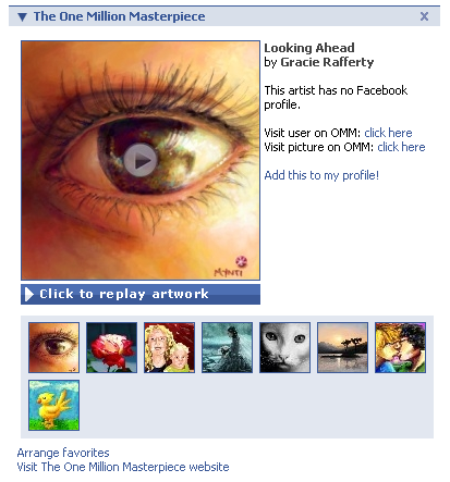 Facebook application screenshot